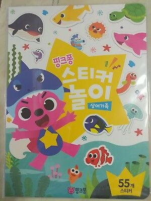 Pinkfong Shark Family Sticker Play Toy For Baby&Kid 55p