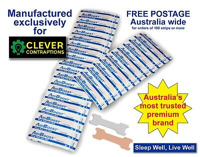 AirBoost Nasal Strips 10 Medium Size Anti Snore by Clever Contraptions