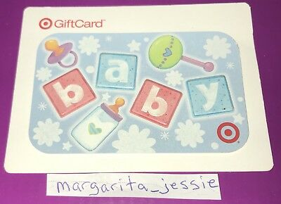Target Gift Card 2008 Baby Toys Bottle Pacifier Collectible No Value New