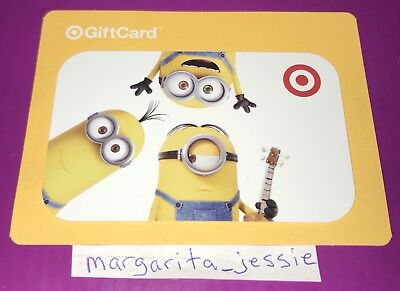 Target Gift Card 2015 Minions Movie Characters Collectible No Value New