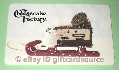 """The Cheesecake Factory Gift Card """"cheesecake On Sled"""" No Value Holiday 2018 New"""