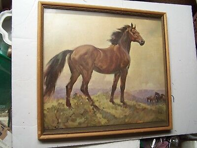 Vintage 11 X 13 print picture Litho Horse by Elmore Brown Contemporary American