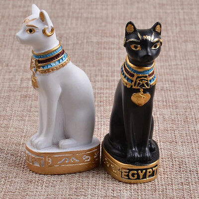 Egyptian Bastet Cat Statue Ancient Egypt Goddess Bast Collectible Figurine K2Px