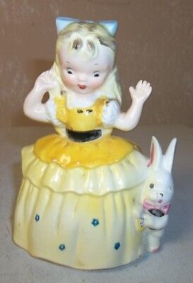 "Vintage Porcelain ""Alice in Wonderland"" Miniature Planter/1956 Napco A1720 B"