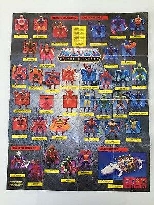 Vintage Masters of the Universe MOTU Poster / Catalogue 1985