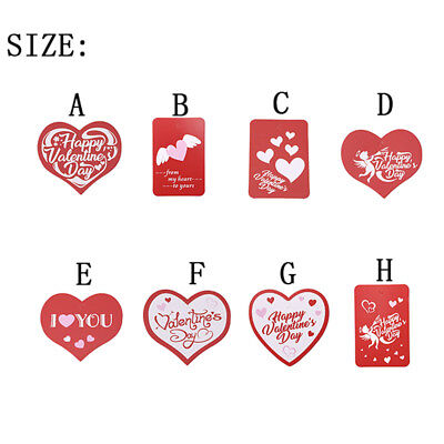 50 Pc Heart Square Stickers Valentine's Festival Lover Party Tag Labels 8C