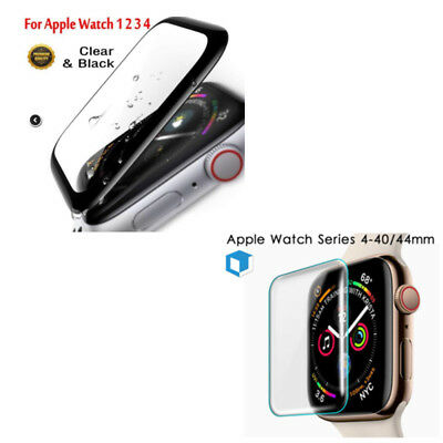 3D For Apple Watch Series 4 3 2 1 Full Case Tempered Glass Screen Protector Film