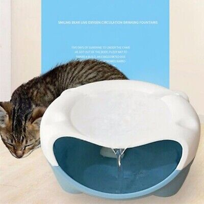 220V Automatic Electric Water Fountain Pet Cat Drinking Bowl Waterfall Drinkwell