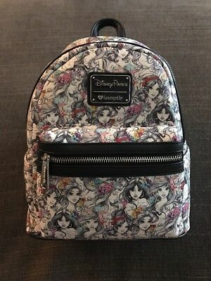 a268122834 Loungefly Disney PRINCESS Disney parks Mini Backpack NWT RECEIPT SHOWN!