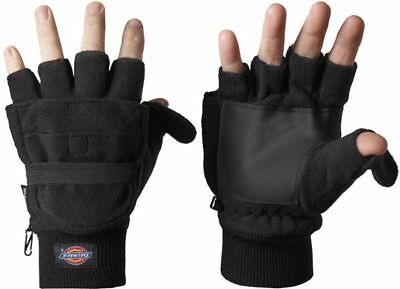 Dickies Mens & Womens/Ladies Polyester Fleece Half Finger Gloves