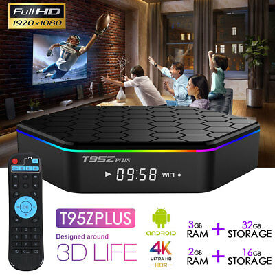 TV Box T95z 2019 January Version Android KODI Smart 4K HD WiFi Octa-Core 3G+32G