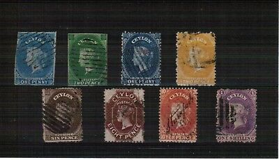 Ceylon mixed selection of Queen Victoria Head stamps