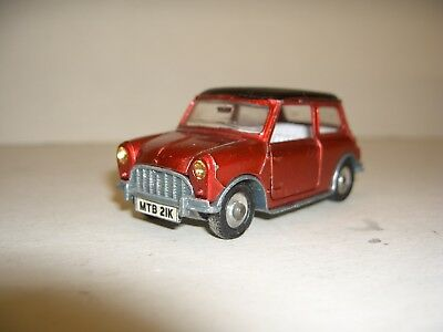 "Mini Cooper ""dinky Toys"" Meccano Made In Englang !!! Guter Zustand !!! Selten !!"