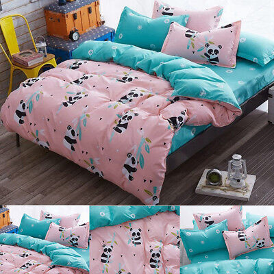 3/4 Pieces 3D Animal Duvet Covers Bed Sheet Quilt Bedding Pillowcases Sets 5Size