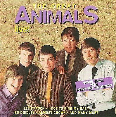 The Animals - The Great Animals Live Used - Very Good Cd