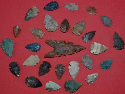 Huge lot of 27 ARROWHEADS spear points Great A+++ Quality 2722