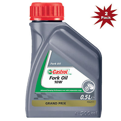 Castrol 10w Suspension Mineral Motorcycle Fork Oil - 2 x 500 ml = 1 Litre