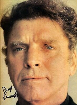 autographe BURT LANCASTER ( † 1994) dédicace collection Michel Clare - RARE !