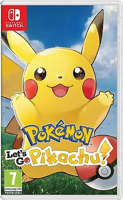 Pokemon Let's Go Pikachu Per Nintendo Switch Nuovo Da Negozio Italiano!!!