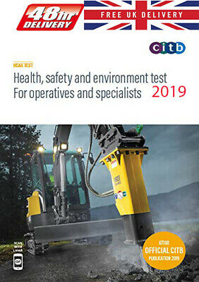 CSCS Card Test Book Health Safety And Environment Operatives CITB Paperback 2018