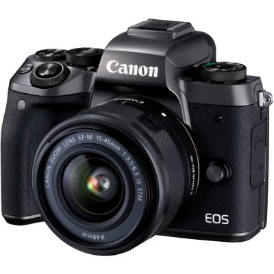 A - Canon EOS M5 Mirrorless Digital Camera with 15-45mm Lens