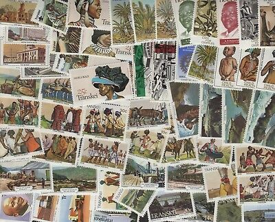 South Africa Transkei Collection of 55+ All Different 1970's-80's MNH/MH