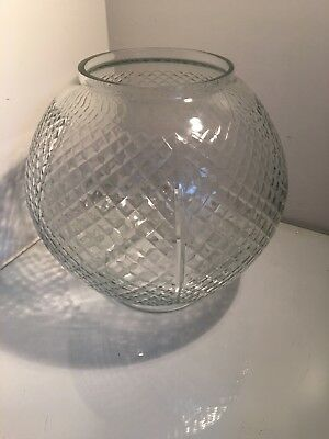 antique pressed round honeycomb oil lamp shade
