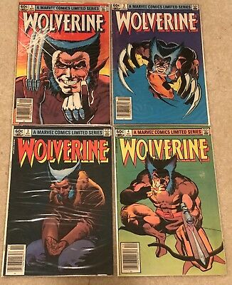 Wolverine -- Marvel 1982 Limited Series 1-4 / F - F+ Condition