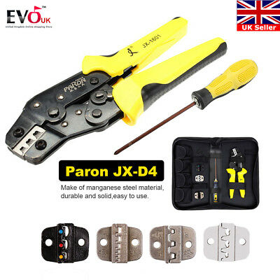 Paron JX-D4 Wire Cable Crimper Plier Kit Terminal Ratcheting Crimping Tool Set