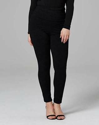 Simply Be Women's Essential High Waisted Stretch Black Leggings UK Size Choice
