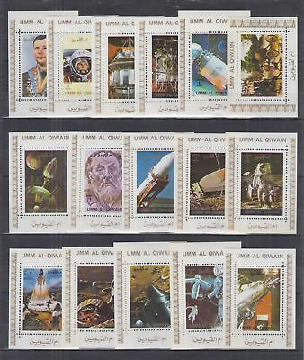 K202. Umm Al Qiwain - MNH - Space - Famous People - Deluxe