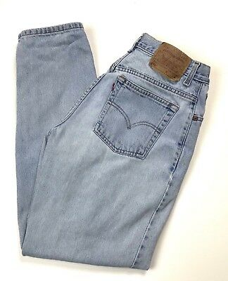 Vintage Levis Womens Jeans 550 High Rise Relaxed Fit Taper Leg Mom Size 12
