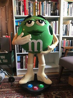 "Green M&M Candy Character Store Collectible Display - 39"" Tall"