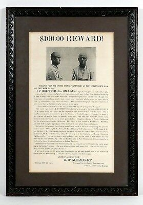 Rare Old West Wanted Poster, Horse Thief, Indian Territory 1899 - Authentic