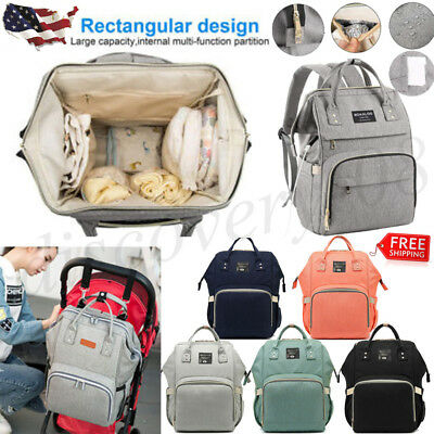 Baby Diaper Nappy Mummy Bag Dad Mom Multifunction Traveling Backpack Portable US