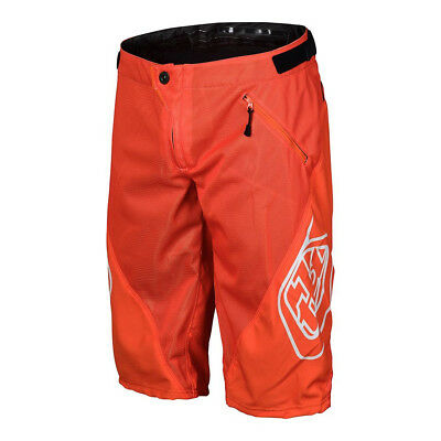 Troy Lee Designs Sprint Solid Youth Bicycle Shorts Orange 28 USA