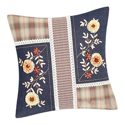 Handmade Ribbon Embroidery Pillow Case Kit Stamped Cross Stitch DIY Craft