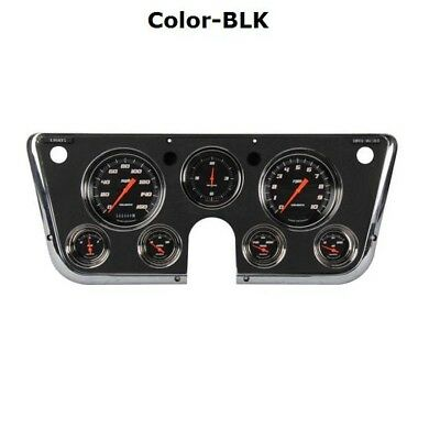 Classic Instruments 1967-1972 Chevy Pickup Black Gauge Set, Velocity
