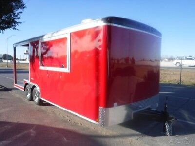 8.5 x 22 22ft Concession Vending Snow Vending Food Drink Enclosed Cargo Trailer