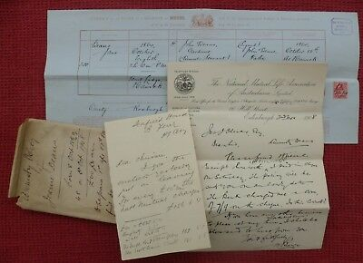 1908, Letters, Certificate, Hawick, Roxburgh, Scottish Borders, Jane Deans