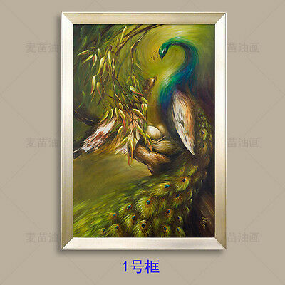 CHENPAT64 charming modern peacock art oil painting 100% hand-painted on canvas