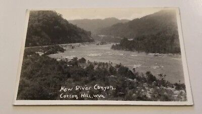 Rppc Cotton Hill, West Va. 1920's New River Canyon Rapids