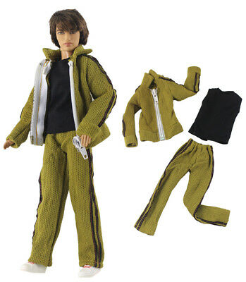 3 Pcs Set Dll Clothes/Outfit/Coat+vest+pants For 12 inch Ken Doll Clothes B51