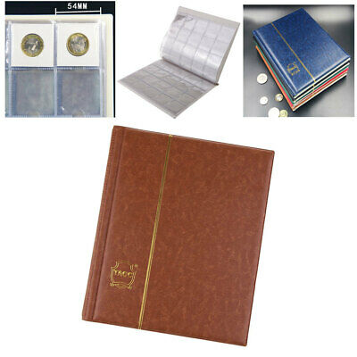 200 Slots Coin Penny Collecting Holder Storage Folder PU Album Book Sleeve D