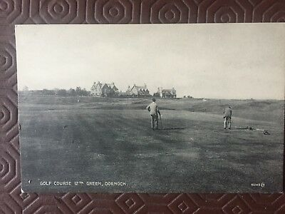 GOLF POSTCARDS - Sutherland-ROYAL DORNOCH GOLF COURSE- 12th green  unused