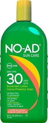 NO-AD Sun Care Sunscreen High Protection Sun Cream Lotion SPF 30 475ml