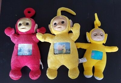 Lot of 3 TELETUBBIES teletubbie plush 1996