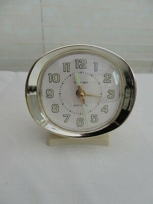 Vintage Baby Ben Westclox travel alarm clock hand wind. Made in USA