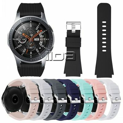 For Samsung Galaxy Watch 46mm/42mm Soft Silicone Replacement Strap Watch Band