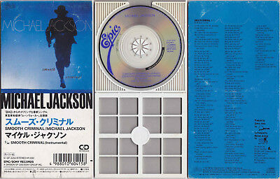"Michael Jackson SMOOTH CRIMINAL 3"" mini CD 3-inch Single Longbox Japan 1988"